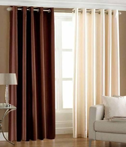 Shavi treders 7 Feet CURTAINS POLYSTER PACKS OF 2 Curtain Fabric