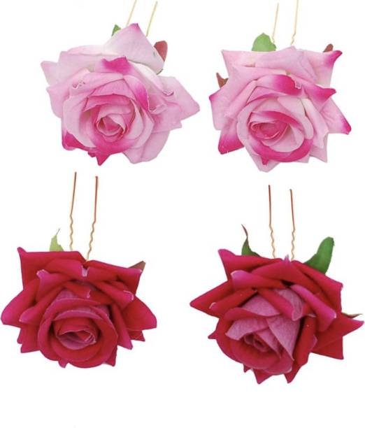 Myra Collection Rose Flower Juda Pin Latest Collection Wedding Party Fancy Hair Clip Hair Pin