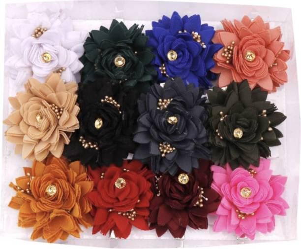 Myra Collection Flower Hair Clips Hair Pins Hair Accessories For Baby Girls Kids Set Of 6 Pairs Hair Clip (Multicolor) Hair Clip