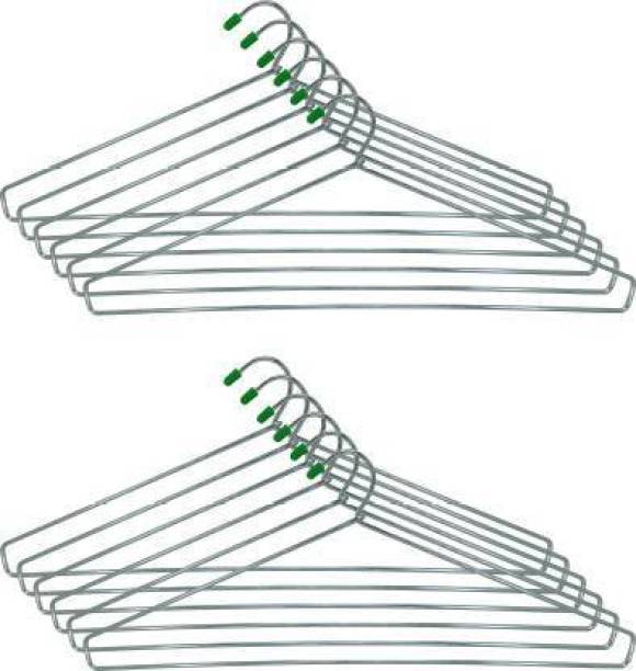 VISHAL_Co Ultra Strong & Durable Steel Heavy Stainless Steel Cloth Hanger Steel Pack of 24 Hangers