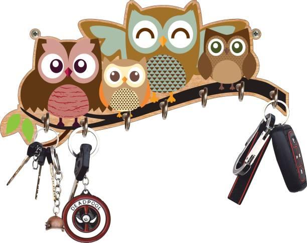 Dinine Craft key holder for home/office/kitchen|key holders|key holder for wall|key holder|Best decoretive item for home decor/festive decor Wood Key Holder