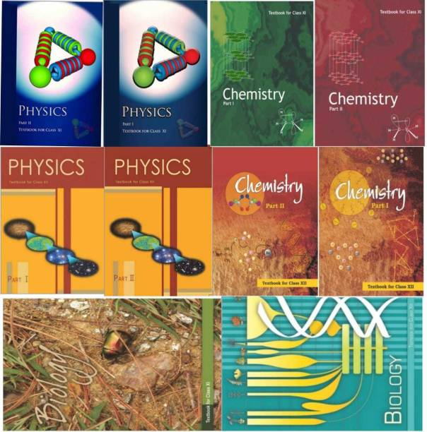 NCERT Science 11th And 12th Book Set (PCB) 1.Chemstry Textbook Part1 And Part 2 2. Physics Textbook Part 1And Part 2 3. Biollogy Textbook (NCERT 11th Book Set) ,(NCERT 12th Book Set) HARDCOVER (ENGLISHMEDIUM (PCB)