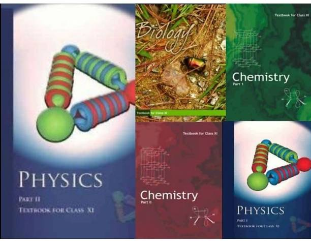 NCERT Textbook Physics Part- 1&2 Chemistry Part- 1&2, Biology For Class 11th ( Set Of 5 Books )