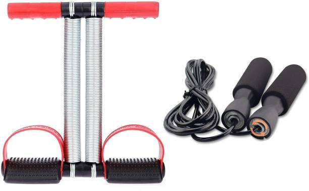 LIVOX Tummy Trimmer With Skipping Rope Best in Fitness, Exercise. Ball Bearing Skipping Rope