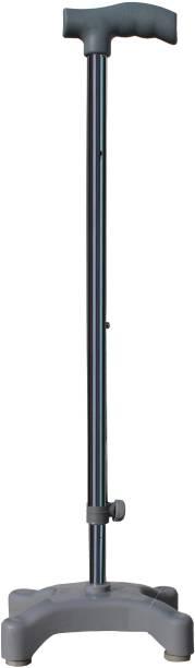 MONOLIZE 4 Leg Quadripod Chroome Height Adjustable Old People Walking Stick