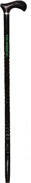KDS SURGICAL Handmade Wooden Walking Stick Traditional Design For Men/Women/Old People 002 Brown Walking Stick