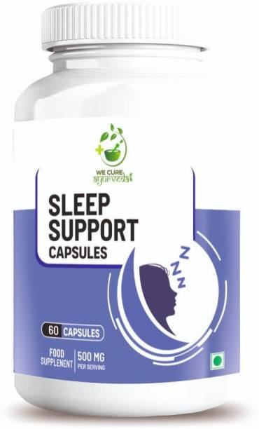 wecureayurveda Sleeping capsule for deep sleep for women, men and adults    Tagara Extract , No habit Capsules with No Side Effects    Sleeping pills 500 mg - 60 Veg Capsules