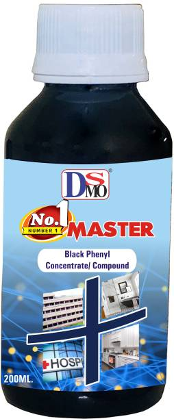 DSMO ® Black Phenyl Concentrate/compound Disinfectant Premium Best in Quality, Gives Shine to the floor : Bathroom, Toilet, Offices,etc. Pleasant ( 200 ML ) Pleasant Fragrance