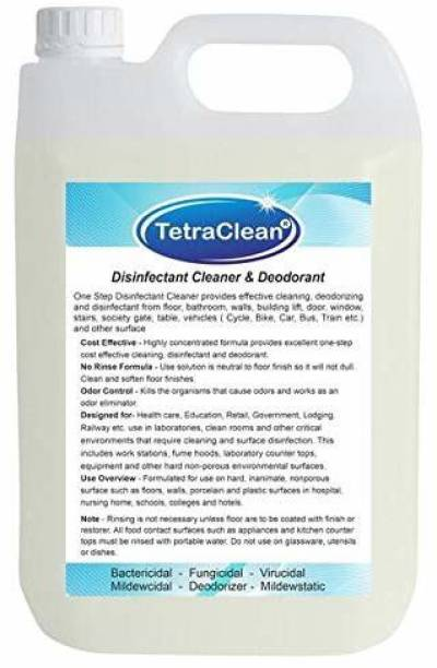 TetraClean Multipurpose Disinfectant Cleaner & Deodorant   5L Concentrated Liquid to Make 200L (Less than 8.5 Rs./ ltr) Liquid Cleaner for Floor, Bathroom and Vehicles  
