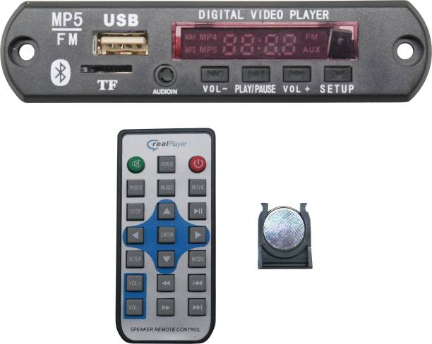 Nktronics MP5 Audio Video Player Decoder Module kit with Bluetooth FM USB AUX & Remote Car Stereo