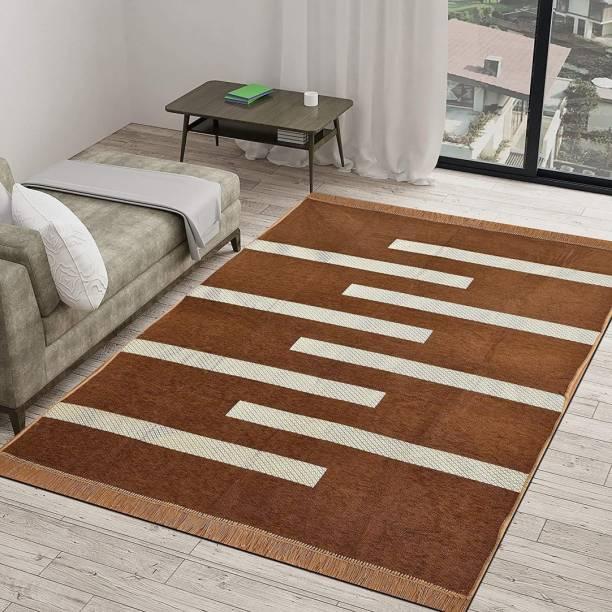 Sasta Sunder Tikau Brown Velvet Carpet