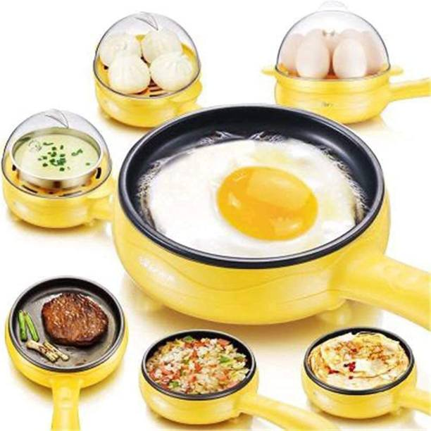 TDA Multifunction 2 in 1 Electric Egg Boiler Steamer Non-Stick Omelette Frying Pan Boiled Eggs Fry Steaming Boiling Roasting Heating Automatic Off Device (Multicolor) Multifunction 2 in 1 Electric Egg Boiler Steamer Non-Stick Omelette Frying Pan Boiled Eggs Fry Steaming Boiling Roasting Heating Automatic Off Device (Multicolor) Egg Cooker