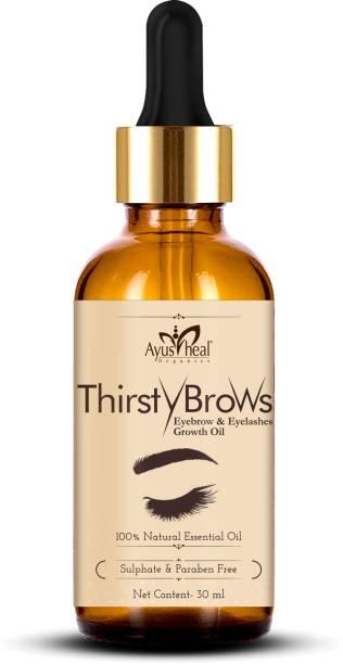 Ayusheal EyeBrows & EyeLash Hair Growth Oil & Volume Serum With Castor 30 ml