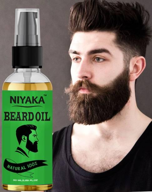NIYAKA Advanced Beard Growth Oil For Men (SLS & Parabean Free) Hair Oil (50 ml) Hair Oil