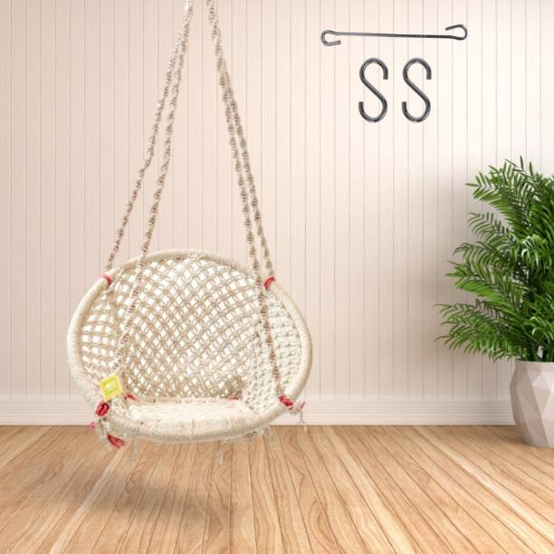 Curio Centre Home Indoor Swing Chair Adult & Kids Cotton Large Swing