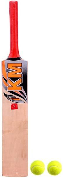 shri shyam traders junior cricket bat (2no.) with 2 ball K M series Cricket Kit