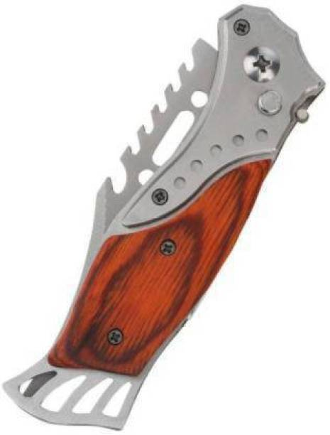 ADONYX Folding Push Button Lock Knife For Hiking Knife, Survival Knife