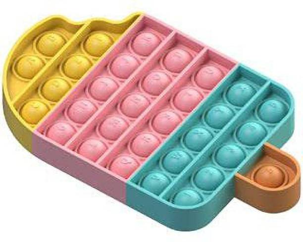 JIALTO Fidget Toys, Pop Bubble Fidget Sensory Toy, Push Fidget Toy for Kids, Silicone Stress Toys (Ice Cream)…