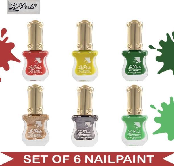 La Perla (LP-NPCMB6-7123) - CH Piano - Multicolor Nail Paint - 10 ml Each Multicolor
