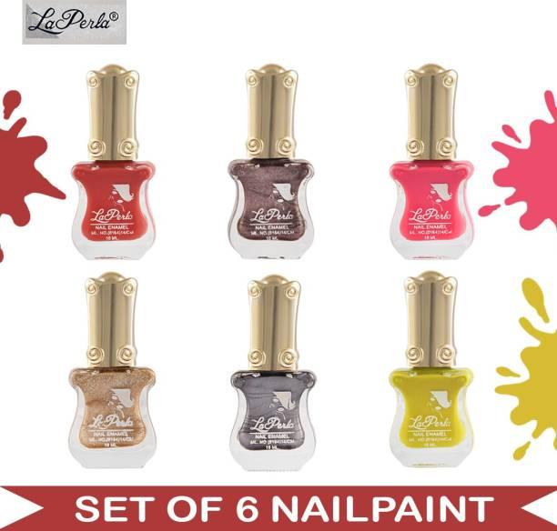 La Perla (LP-NPCMB6-7180) - CH Piano - Multicolor Nail Paint - 10 ml Each Multicolor