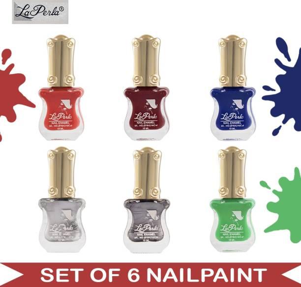 La Perla (LP-NPCMB6-7065) - CH Piano - Multicolor Nail Paint - 10 ml Each Multicolor