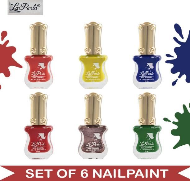 La Perla (LP-NPCMB6-6987) - CH Piano - Multicolor Nail Paint - 10 ml Each Multicolor
