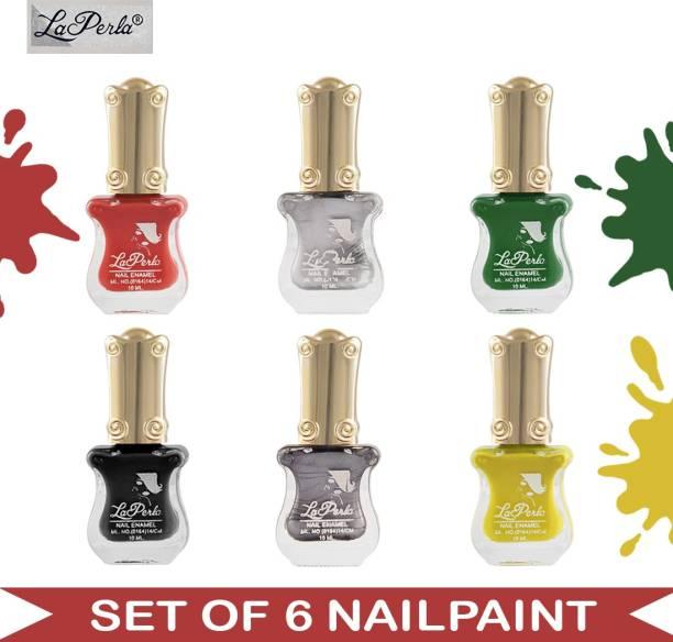 La Perla (LP-NPCMB6-7129) - CH Piano - Multicolor Nail Paint - 10 ml Each Multicolor