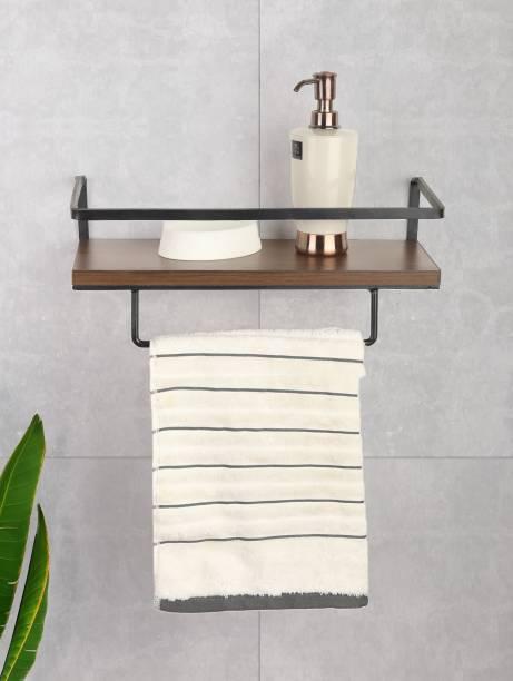 Flipkart SmartBuy Wooden, Iron Wall Shelf