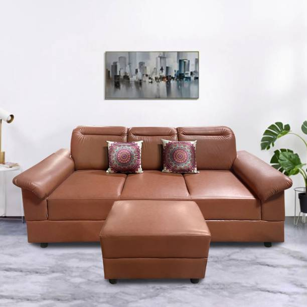 ELTOP Lifestyle Marco Leatherette 4 Seater  Sofa