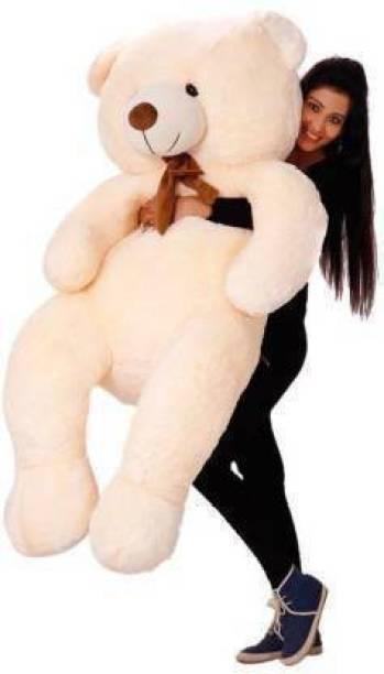 LoversChoice stuffed toys 4 feet Cream teddy bear / high quality / love teddy For girls valentine & Anniversary gift / cute and soft teddy bear -120 CM (BIEGE)  - 120 cm