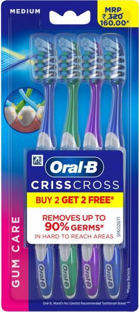 Oral-B Criss Cross Gum Care Medium Medium Toothbrush