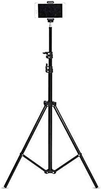Meraki Wonder Lightweight & Portable Portable 7 Feet (84 Inch) Long Tripod Stand with Adjustable Mobile Clip Holder for All Mobiles & Cameras Tripod