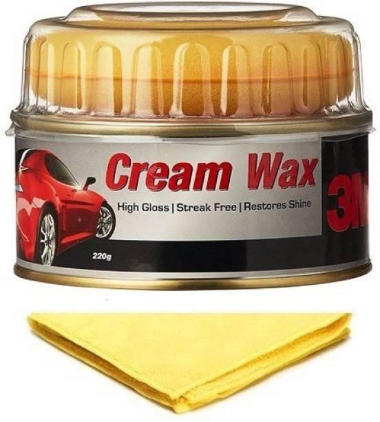 3M Cream Wax, Microfiber Cloth Combo