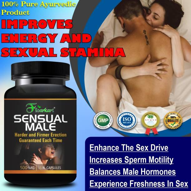 Floarkart Sensual Male Sexual Capsules For Increases Testosterone & Energy Level Enhance the Sex Drive 100% Ayurvedic