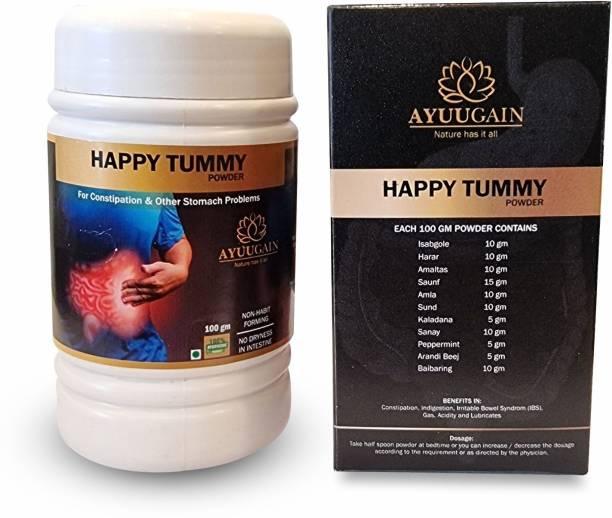 AYUUGAIN Happy Tummy Powder Churan For Constipation Indigestion Gas Acidity