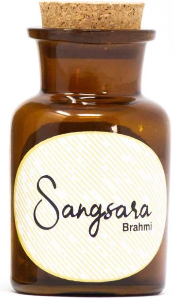Sangsara Brahmi Ayurvedic Capsules Helps in Boosing Brain Function, Lower Blood Pressure, Support Memory, Stress & Brain Tonic, 500 mg