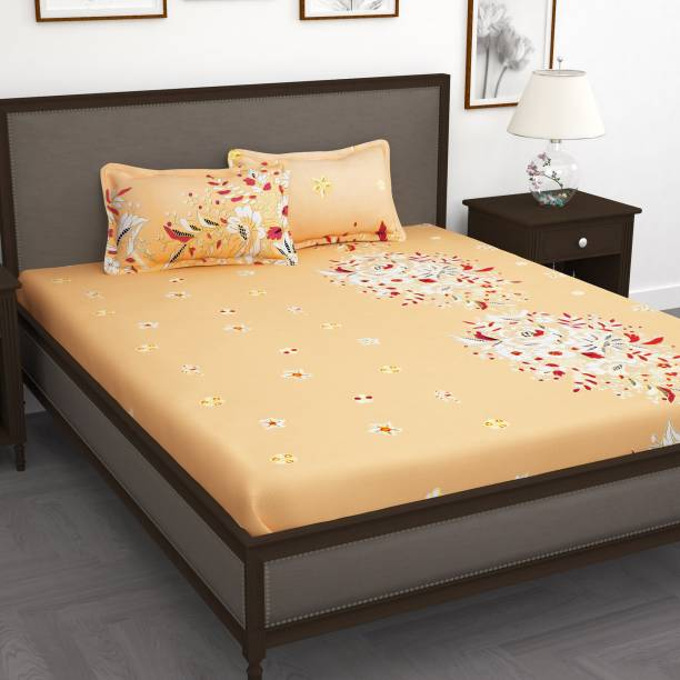 Story@home 240 TC Cotton King Floral Bedsheet