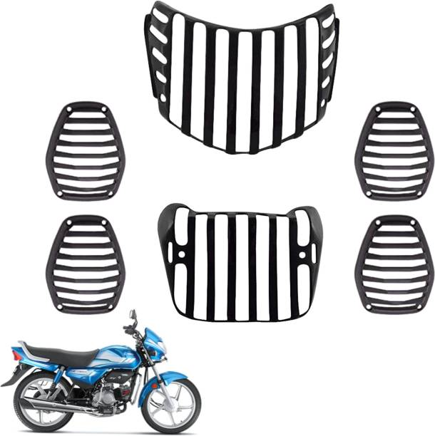 wahh hf deluxe grill jali cover guard set headlight indicator taillight protection wa01 Bike Headlight Grill