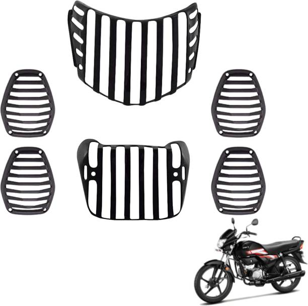 wahh hf deluxe grill jali cover guard set headlight indicator taillight protection wa04 Bike Headlight Grill