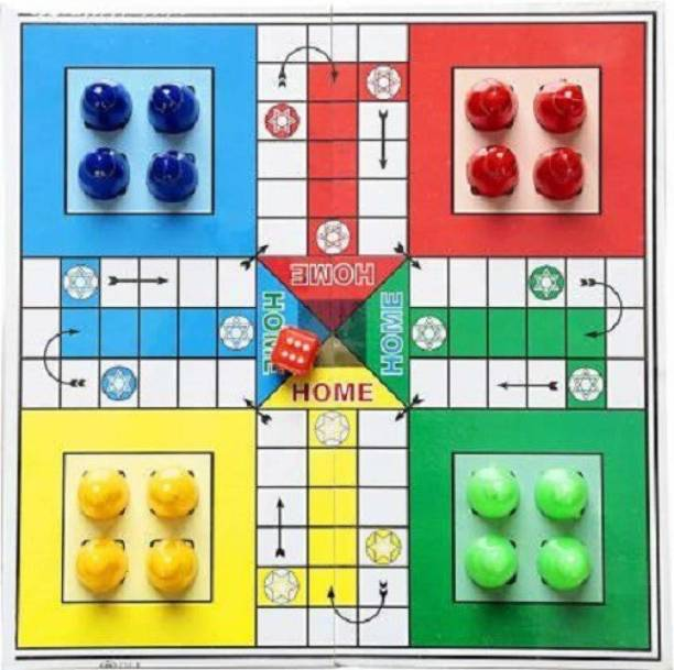 Satya 2 in 1 Ludo Snakes and Ladders Travel Board Game 30 cm Chess Board