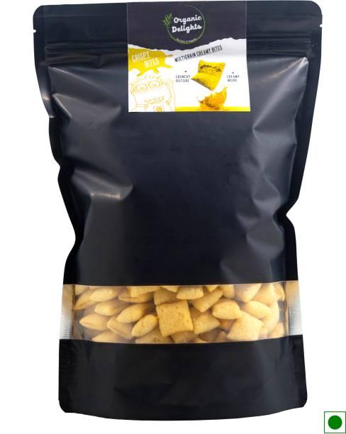 Organic Delights Multigrain Crispy BItes MAngo 0% Maida High in Calcium and Proteins