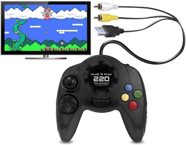 Plug N Play Video Game - Kids Video Game box with 220 Different Video Games (Black) Limited Edition