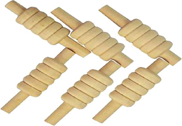 Onekbhalo bails for Cricket (6 pc) Lightweight Made of Light Wood Standard Bail