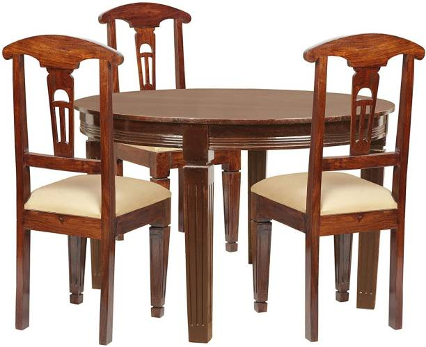 NSH Dining Table with 4 Chair for Dining Room Wooden Dining Room Set for Home & Living Room Furniture Solid Wood 4 Seater Dining Set