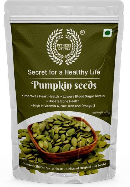 Fitness Mantra Pumpkin Seeds 400 g for Weight Loss & Healthy Skin | Gluten Free, Vegan, Organic, High Protein
