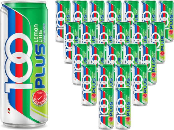 100Plus Lemon Lime Isotonic Drink, 325 ML (Pack of 24) Hydration Drink