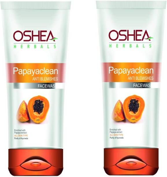 Oshea Herbals Papayaclean Anti Blemishes Enriched With Papaya Extract  Pack of 2 Face Wash