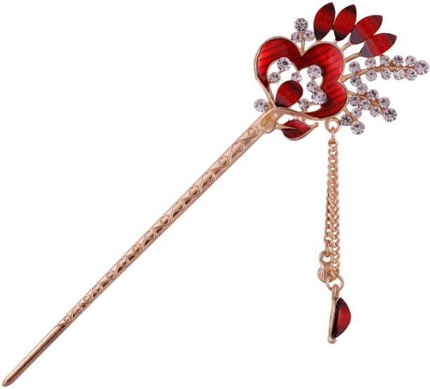POOJA Beautifully Yours PHBFC-60 Bun Stick