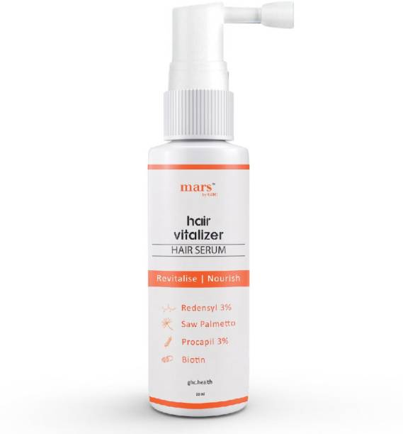 mars by GHC Hair Vitalizer With 3% Redensyl, Procapil, Saw Palmetto& Biotin For Thicker & Stronger Hair Growth (60ml)
