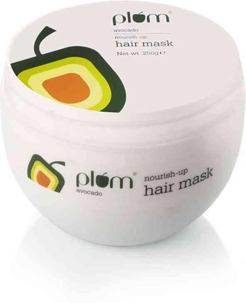 Plum Avocado Nourish-Up Hair Mask | For Frizz-Free Hair | Contains Avocado Oil, Argan Oil & Shea Butter | Hair Spa Treatment For Smooth Hair | 100% Vegan